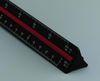 "Solid Aluminum Engineering Scale 12"" Black"