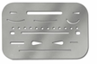 Stainless Steel Erasing Shield Polished