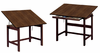 Titan Wood Drafting Tables Walnut Base by Alvin
