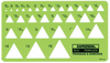 Triangle & Diamonds Template 30 From 3/32 - 1 /38