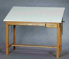 Wood Drafting Tables Oak Finished Oak SMI