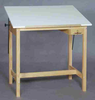 Wood Drafting Tables Oak Unfinished Oak SMI
