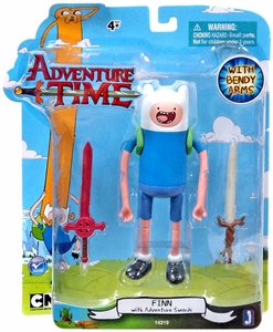 Adventure Time 5 Inch Action Figure Finn with Swords New!