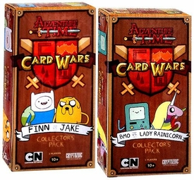 Adventure Time Card Wars Game Set of Both Collector Packs Finn vs. Jake & BMO vs. Lady Rainicorn