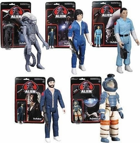 Alien Super 7 ReAction Figure 5-Pack Ripley, Dallas, Kane, Ash & Alien New!