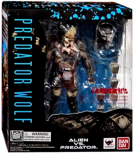 Alien VS. Predator Requiem Bandai S.H. Monsterarts Action Figure Wolf Predator New!
