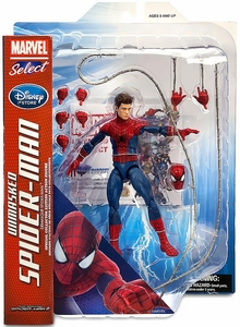 Marvel Select Exclusive Action Figure Unmasked Spider-Man New!