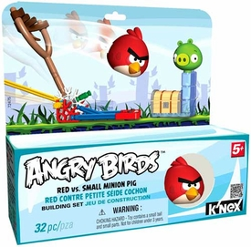 Angry Birds K'NEX Set #72475 Red Bird Vs. Small Minion Pig [Blue Box]