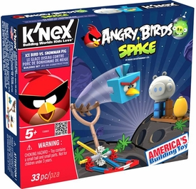 Angry Birds Space K'NEX Set #72003 Ice Bird Vs Snowman Pig