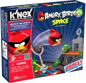 Angry Birds Space K'NEX Set #72004 Super Red Vs Small Minion Pig