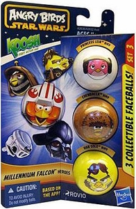 Angry Birds STAR WARS KOOSH Ball Faceball 3-Pack Falcon Heroes