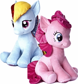 Aurora My Little Pony Friendship is Magic Jumbo 26 Inch Pinkie Pie & Rainbow Dash Pre-Order ships July