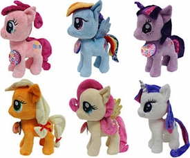 Aurora My Little Pony Friendship is Magic Set of Mane Six Large 10 Inch Plush