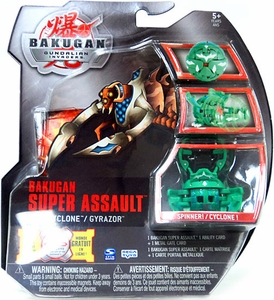 Bakugan Super Assault Single Figure Zephyroz [Green] BakuCyclone Gyrazor [Spinner!]