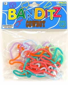 Banditz Shaped Rubber Band Bracelets 12-Pack Cowboy BLOWOUT SALE!