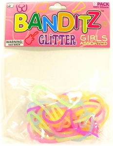 Banditz Shaped Rubber Band Bracelets 12-Pack Girls Assorted [Glitter] BLOWOUT SALE!
