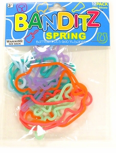 Banditz Shaped Rubber Band Bracelets 12-Pack Spring BLOWOUT SALE!