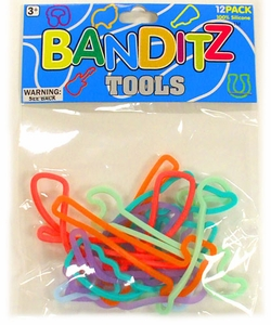 Banditz Shaped Rubber Band Bracelets 12-Pack Tools BLOWOUT SALE!