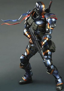 Batman Arkham Origins Square Enix Play Arts Kai Action Figure Deathstroke Pre-Order ships August