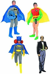 Batman Retro 8-In Series 3 Set of 4 Action Figures [Batman, Robin, Batgirl & Alfred] Pre-Order ships March