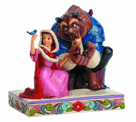 Beauty & the Beast Disney Traditions Statue Belle & The Beast In Winter