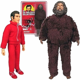 Bif Bang Pow! Six Million Dollar Man Set of Both Action Figures Steve Austin & Bigfoot