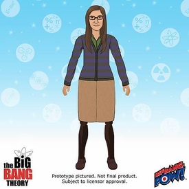 Bif Bang Pow! Big Bang Theory Retro Style Action Figure Amy Farrah Fowler Pre-Order ships September