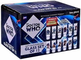 Bif Bang Pow! Doctor Who 50th Anniversary Exclusive 12 Piece Color Changing Glass Set