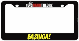 Bif Bang Pow! The Big Bang Theory License Plate Frame BAZINGA! New!