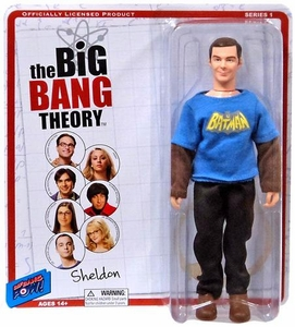 Big Bang Theory Retro Style Action Figure Sheldon New!