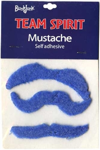 Bunkjunk Camp Color War Team Spirit Mustache Blue