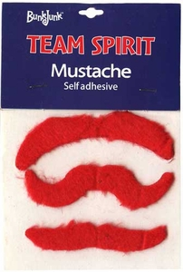 Bunkjunk Camp Color War Team Spirit Mustache Red