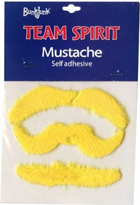 Bunkjunk Camp Color War Team Spirit Mustache Yellow