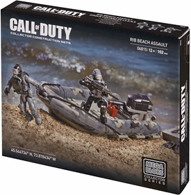 Call of Duty Mega Bloks Set #6815 Rib Beach Assault Damaged Package, Mint Contents!