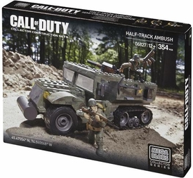 Call of Duty Mega Bloks Set #6827 Half Track Ambush New Hot!