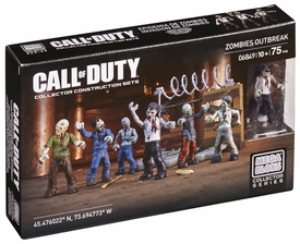 Call of Duty Mega Bloks Set #6849 Zombies Outbreak New!