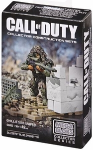 Call of Duty Mega Bloks Set #6852 Ghilly Suit Sniper New!