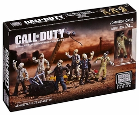 Call of Duty Mega Bloks Set #6881 Zombies Horde New!