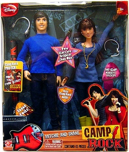 Camp Rock Fashion Doll 2-Pack Mitchie & Shane Damaged Package, Mint Contents!!