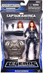 Captain America Marvel Legends Series 2 Action Figure Black Widow [Build Mandroid Piece!]