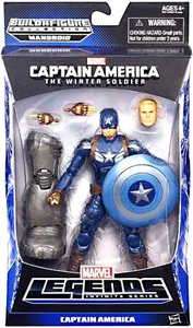 Captain America Marvel Legends Series 2 Action Figure Captain America [Build Mandroid Piece!]