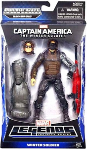 Captain America Marvel Legends Series 2 Action Figure Winter Soldier [Build Mandroid Piece!]
