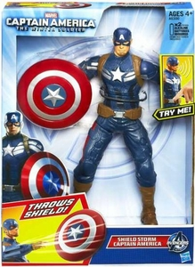 Captain America The Winter Soldier 10 Inch Electronic Action Figure Shield Storm Captain America New!