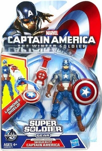 Captain America The Winter Soldier 3.75 Inch Action Figure Captain America [Shield Blitz] New!