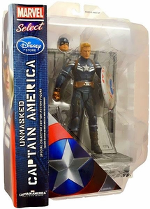 Captain America The Winter Soldier Exclusive Marvel Select Action Figure Unmasked Captain America [Battle Damaged] New!