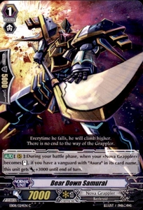 Cardfight Vanguard Champions of the Cosmos Single Card Common EB08/024 Bear Down Samurai
