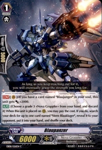 Cardfight Vanguard Champions of the Cosmos Single Card Common EB08/026 Blaupanzer