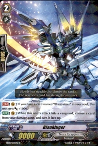 Cardfight Vanguard Champions of the Cosmos Single Card Rare EB08/014 Blaukluger
