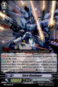 Cardfight Vanguard Champions of the Cosmos Single Card RR Rare EB08/005 Stern Blaukluger