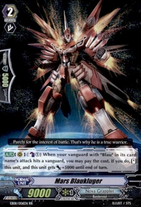 Cardfight Vanguard Champions of the Cosmos Single Card RR Rare EB08/006 Mars Blaukluger